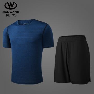 夏季运动休闲两件套JW2052麻蓝+JW2053黑